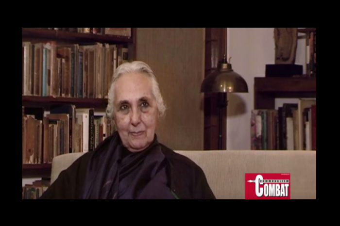 March 2015 Romila Thapar in conversation with Teesta Setalvad, courtesy Hillele TV