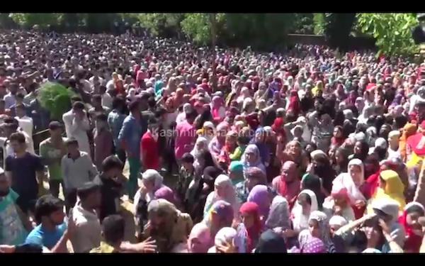 Video: Burhan Wani's Funeral in Tral
