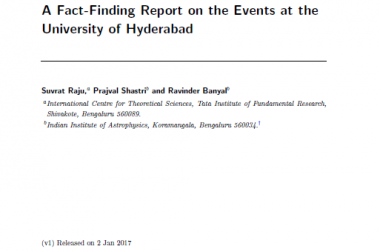Fact Finding Report on the Events at the University of Hyderabad