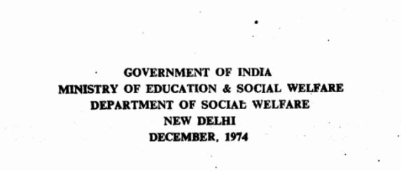 Towards Equality: Report of the Committee on Status of Women in India (1974) Part I