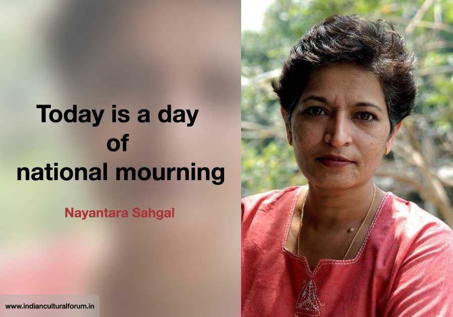 Writers, Academics Respond to Gauri Lankesh's Murder: Nayantara Sahgal