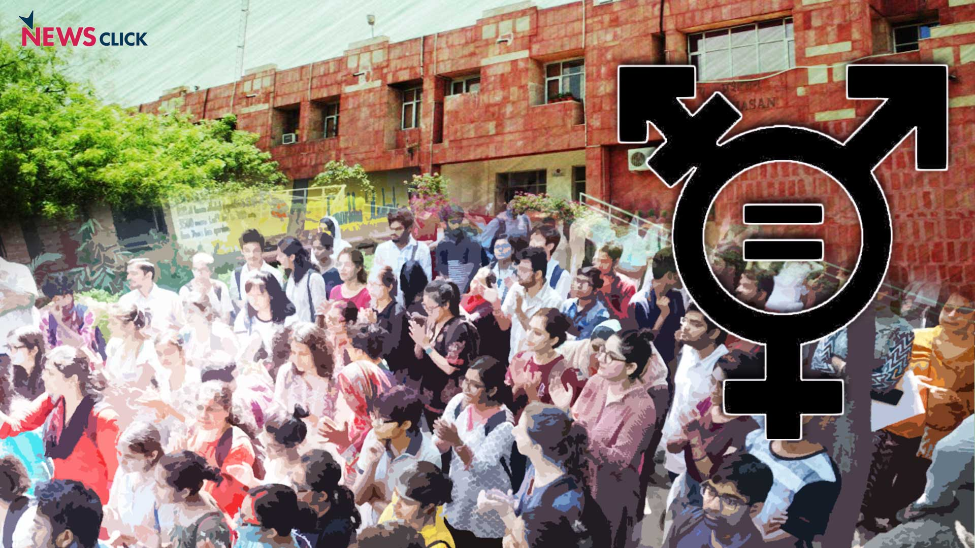 GSCASH in JNU: Gender Justice Long live, Gender Equality Long live