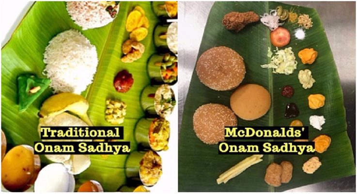 McOnam Sadhya: Tinkering with Tradition