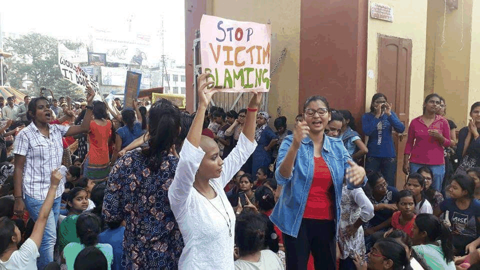 Female Students of BHU Stand Against Sexual Harassment on Campus