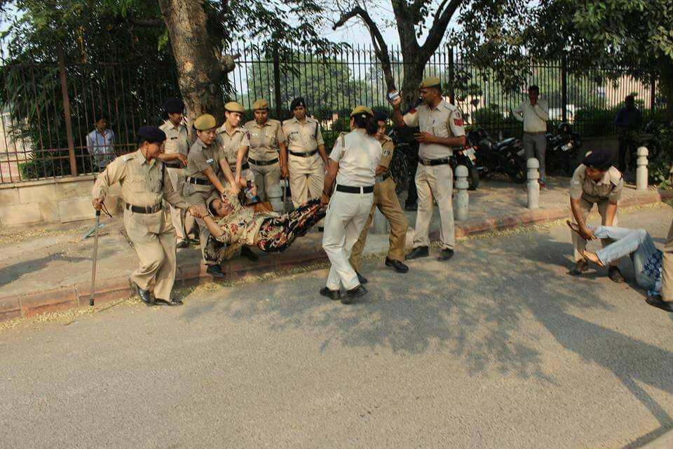 One Year : Missing Student Najeeb's Mother Dragged and Pulled by Cops