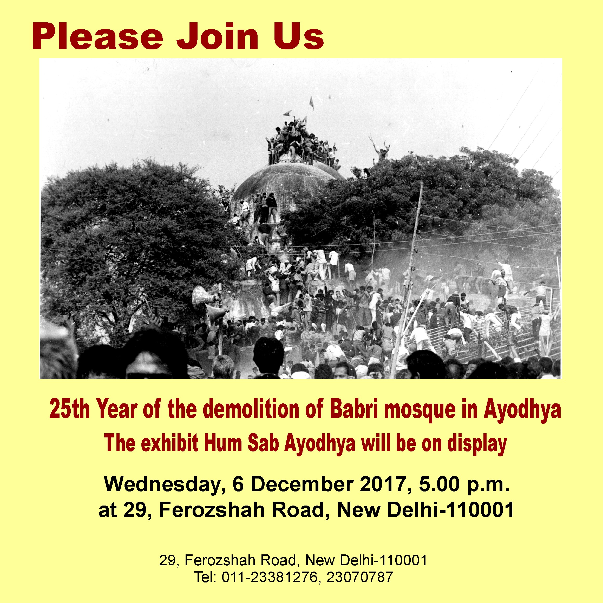 25th Year of the Demolition of Babri Mosque in Ayodhya