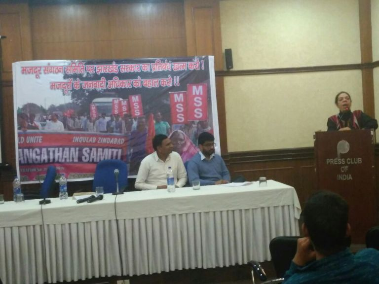 Activists Condemn the Ban of Majdoor Sangathan Samiti by the Jharkhand Government