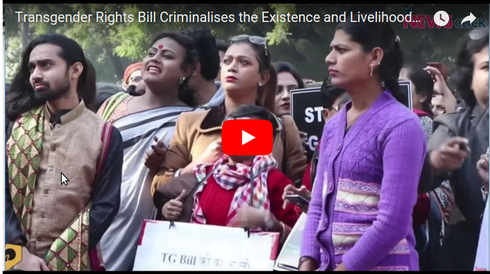 The Transgender Persons (Protection of Rights) Bill 2016 criminalises Transgender Persons