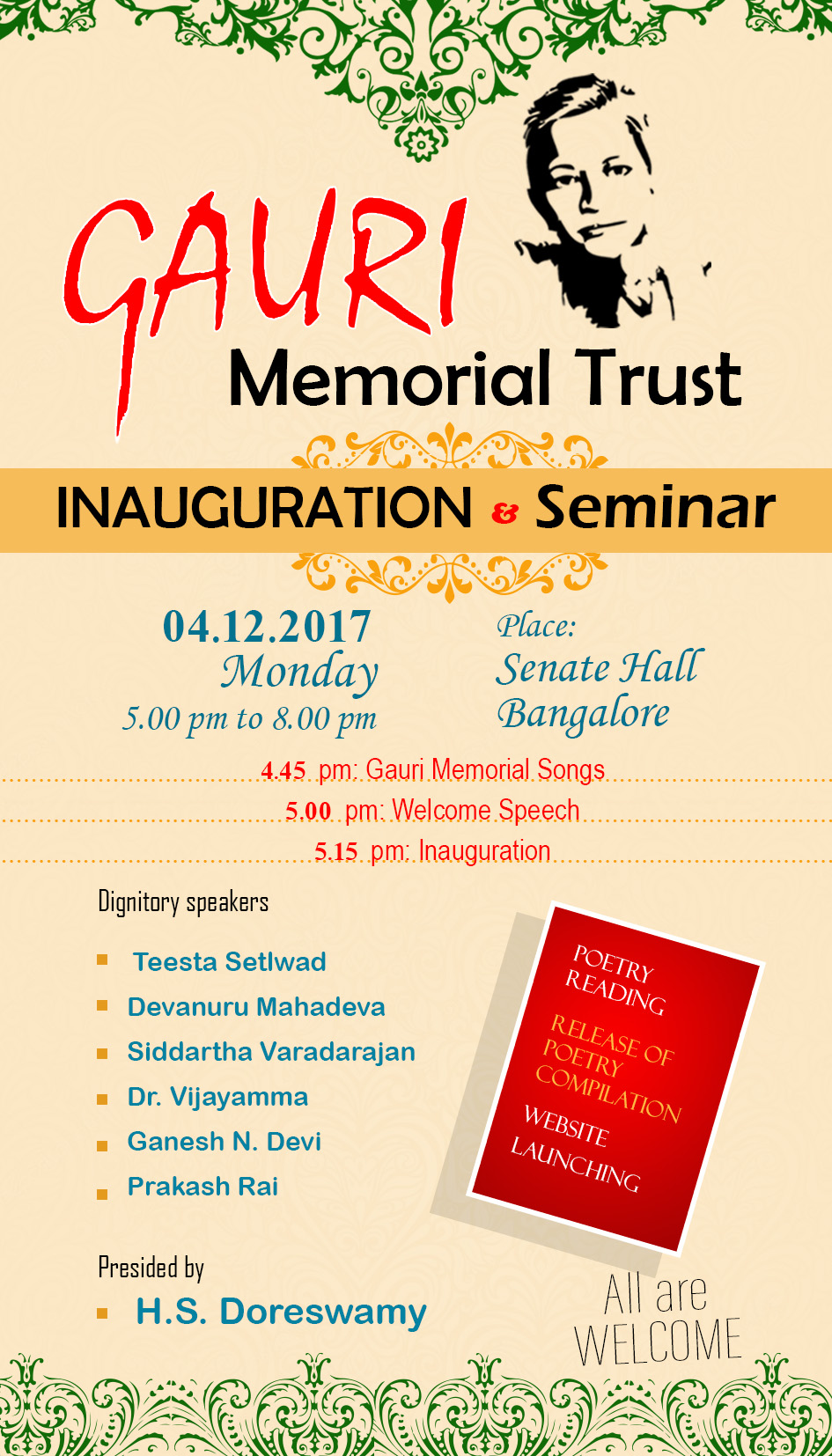 Inauguration of Gauri Memorial Trust