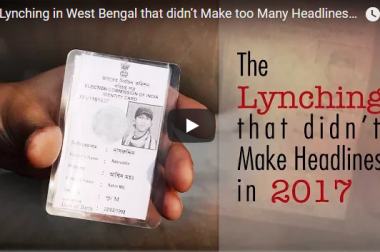 The Lynching in West Bengal that didn't Make too Many Headlines in 2017