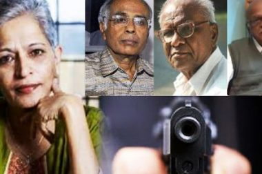 Writers and activists demand fast track investigation into the murders of Dabholkar, Pansare, Kalburgi, and Lankesh