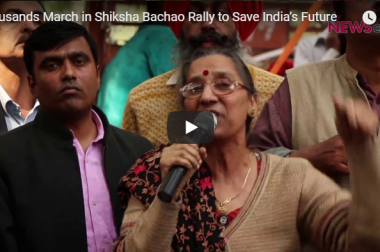 Thousands March in Shiksha Bachao Rally to Save India's Future