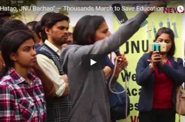 """VC Hatao, JNU Bachao"" — Thousands March to Save Education"