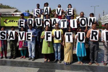 Delhi University Teachers Strike Against Commercialising Education
