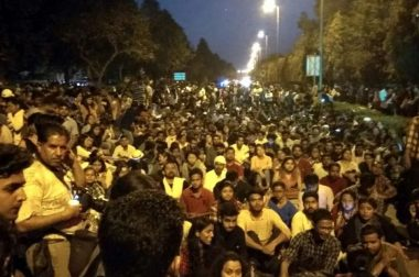 JNU Students Long March Faces Police Violence