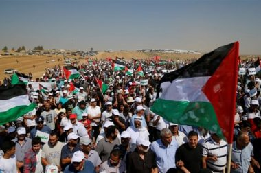 Tens of Thousands of Palestinians to March Towards Israel