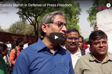Journalists March in Defense of Press Freedom