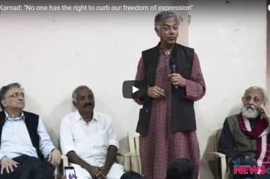 "Girish Karnad: ""No one has the right to curb our freedom of expression"""