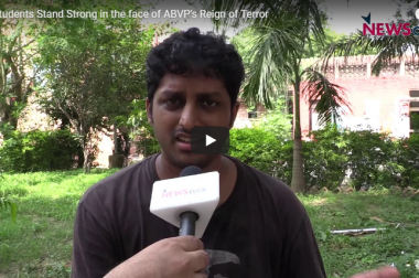 JNU Students Stand Strong in the face of ABVP's Reign of Terror
