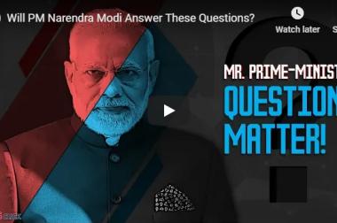 Will PM Narendra Modi Answer These Questions?