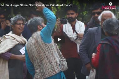 JNUTA Hunger Strike: Staff Questions Diktats of the VC