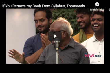 """""""If you remove my book from syllabus, thousands will read it on road"""": Kancha Ilaiah"""