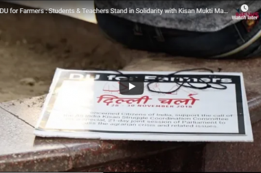 DU for Farmers : Students & Teachers Stand in Solidarity with Kisan Mukti March