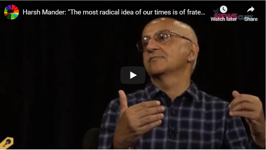 """""""The most radical idea of our times is of fraternity, solidarity and love"""""""