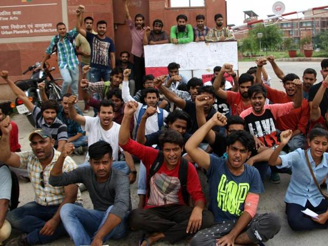 Haryana State Film and Television Institute Students Protest Against Administration
