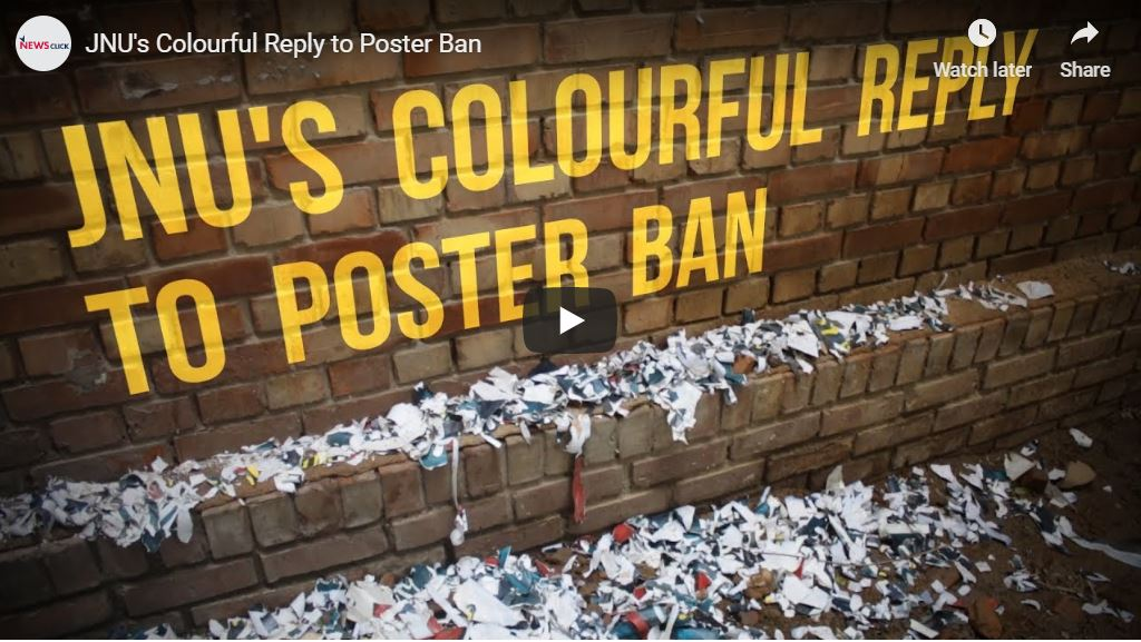 JNU's Colourful Reply to Poster Ban