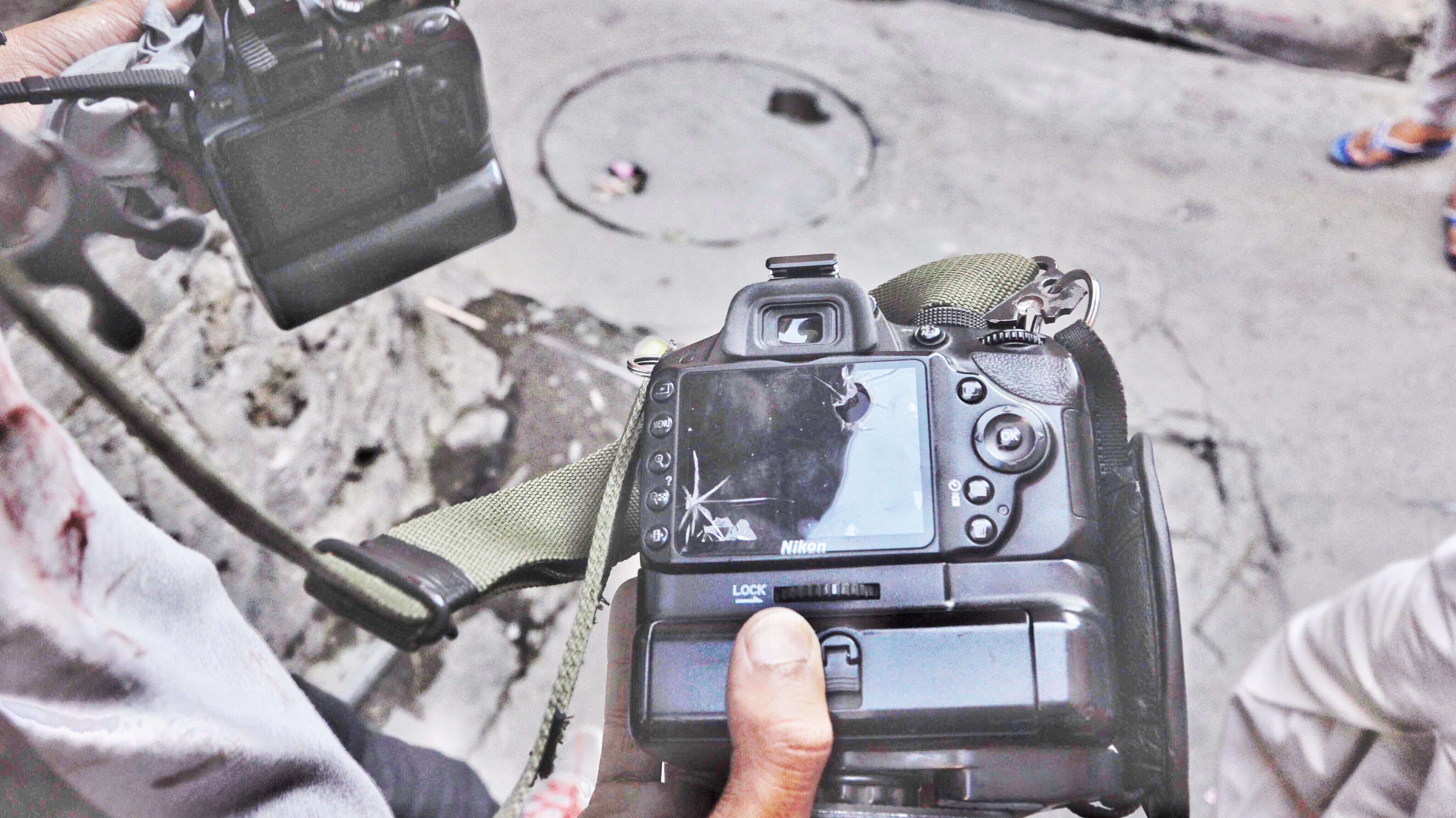 Photojournalist Living with Broken Lens