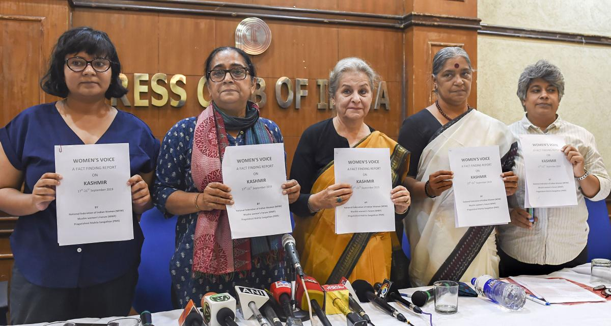 All-Woman Team Releases Fact-finding Report on Kashmir