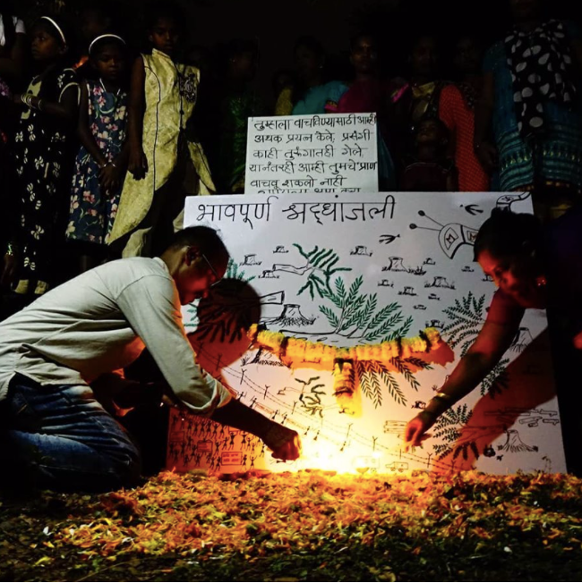 Aarey tribals organise funeral for cut trees and lost wildlife