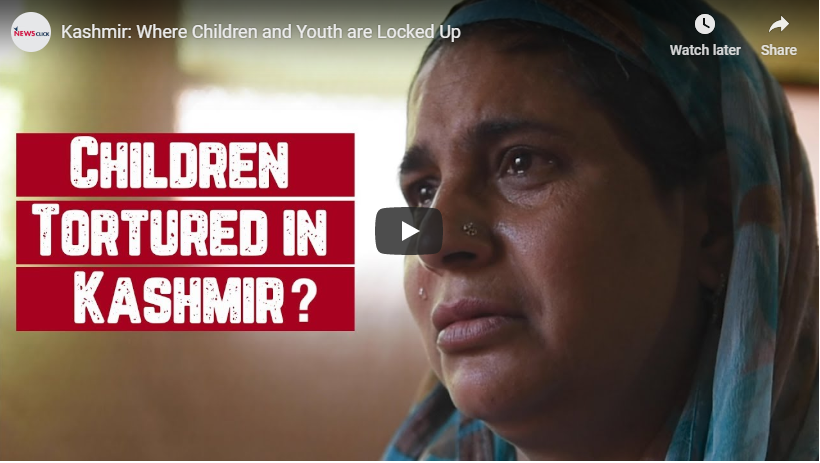 Kashmir: Where Children and Youth are Locked Up