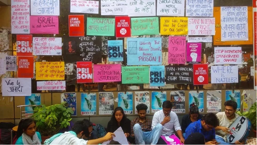 Jamia students go on strike against show cause notices served to 5 students