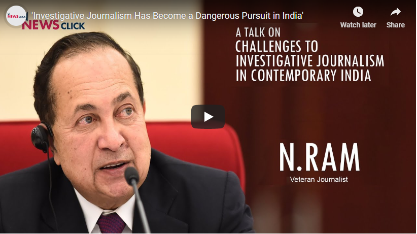 """""""Investigative Journalism Has Become a Dangerous Pursuit in India"""""""