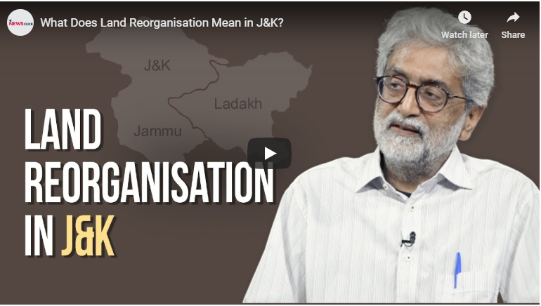 What does land reorganisation mean in J&K?