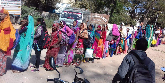Tribal women of Gujarat's Devgadh Baria speak up for their rights at public hearing