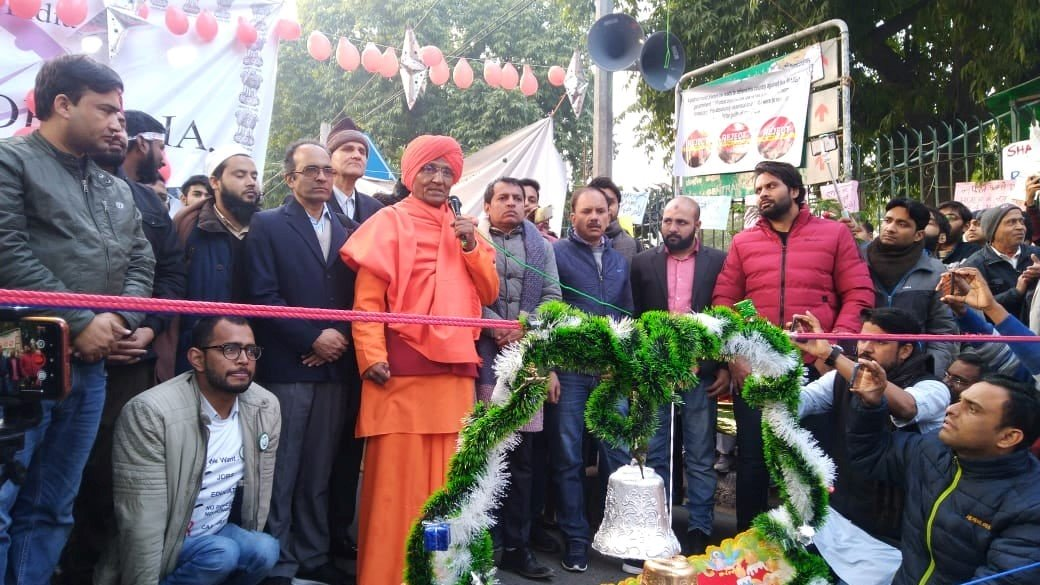 CAA/NRC: Protesters Celebrate Christmas at Jamia, Distribute Copies of Constitution Preamble