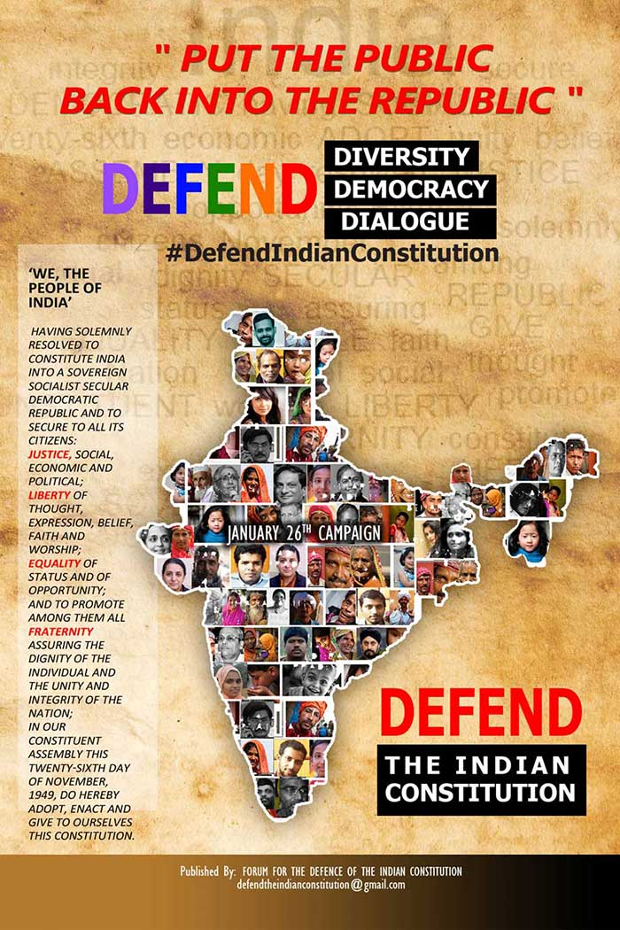 Defend The Indian Constitution! Defend Diversity, Dialogue, Democracy!