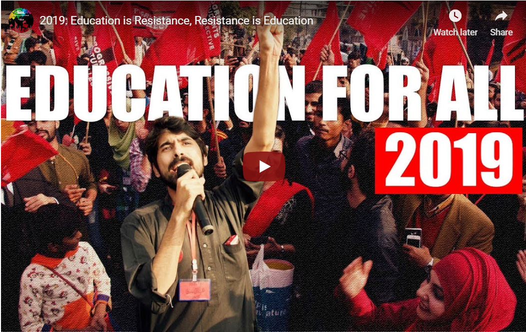2019: Education is resistance, resistance is education
