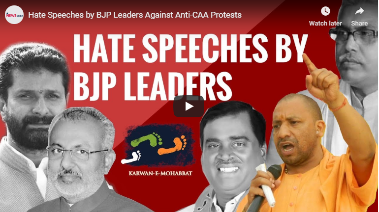 Hate speeches by BJP leaders against anti-CAA protests