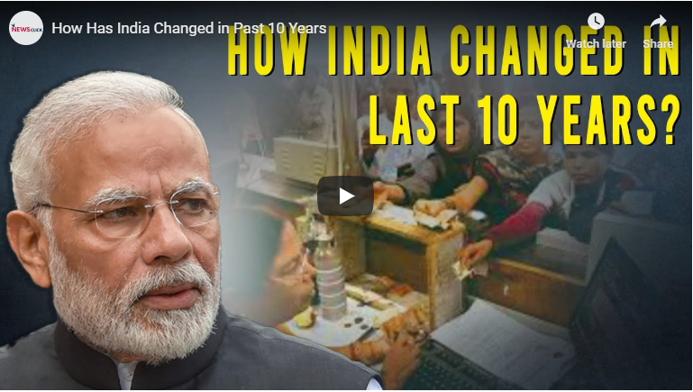 How has India changed in past 10 years