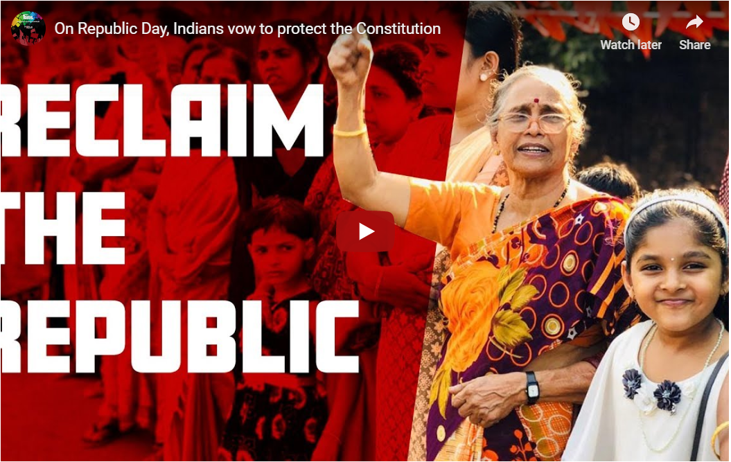 On Republic Day, Indians vow to protect the Constitution